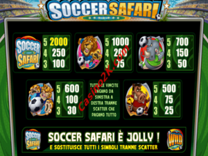 pagamenti Soccer Safari