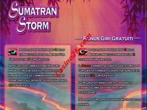 bonus Sumatran Storm