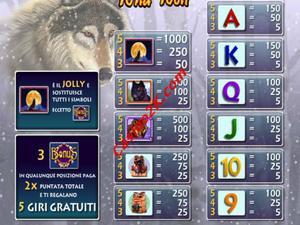 pagamenti Wild Wolf